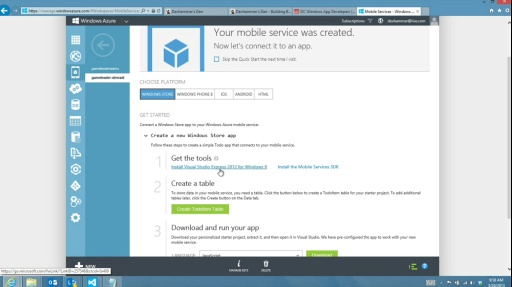 Microsoft DevRadio: (Part 4) Using Windows Azure to Build Back-End Services for Windows 8 Apps – Azure Mobile Services