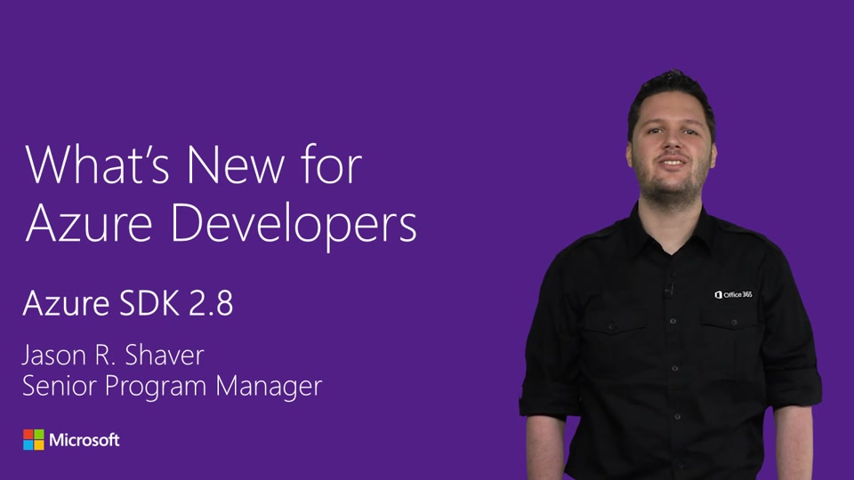 What's New for Azure Developers (Azure SDK 2.8)