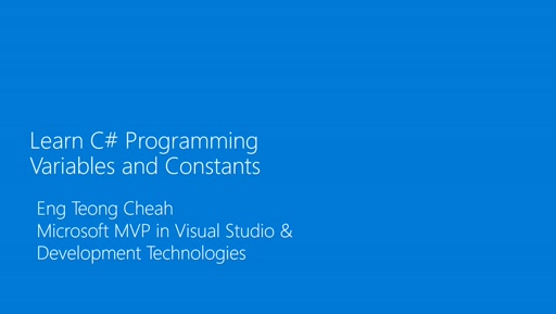 Learn C# Programming - Variables & Constants