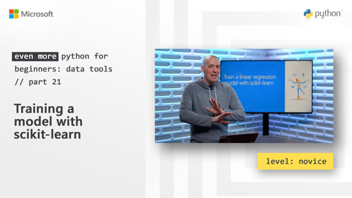 Training a model with scikit-learn | Even More Python for Beginners - Data Tools  [21 of 31]