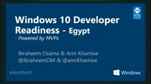 Windows 10 Developer Readiness [Egypt]