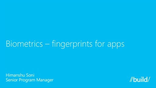 Biometrics-Fingerprints for Apps