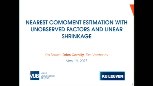 Nearest Comoment Estimation with Unobserved Factors and Linear Shrinkage