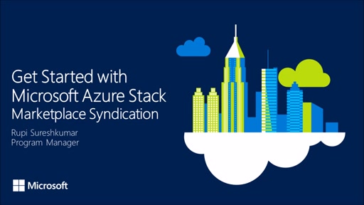 Get Started with Azure Stack - Marketplace Syndication
