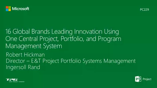 Ingersoll Rand: 16 Global Brands Leading Innovation Using One Central Project, Portfolio, and Program Management System
