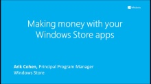 Making money with your Windows Store apps