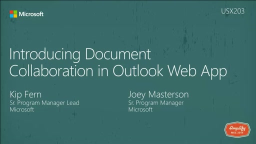 Introducing Document Collaboration in Outlook Web App