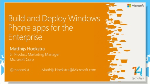 Bouwen en distribueren van je Enterprise apps voor Windows Phone 8.1