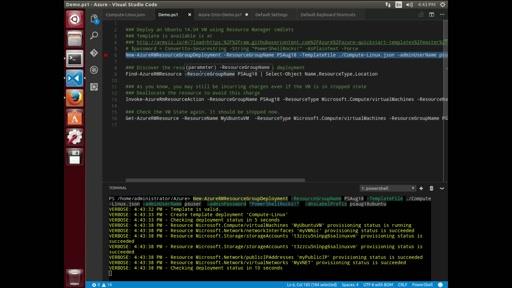 PowerShell on Linux - Azure Demo