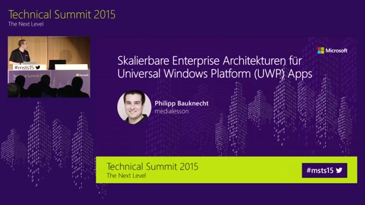 Skalierbare Enterprise-Architekturen für Universal Windows Platform Apps