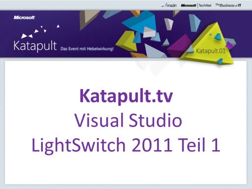 Visual Studio LightSwitch 2011 - Teil 1/2