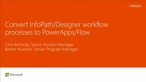 Convert InfoPath/Designer workflow processes to PowerApps