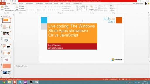 Live coding: The Windows Store Apps showdown - C# vs JavaScript