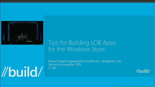 Tips for Building LOB Apps for the Windows Store