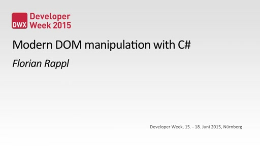 Modern DOM manipulation with C#