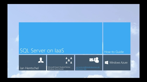 Tutorial - SQL Server auf Infrastructure-as-a-Service (IaaS) - Teil 2/4