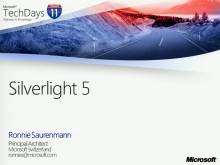 TechDays 11 Basel - What's new in Silverlight 5?
