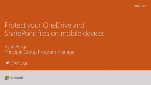 Protect your OneDrive and SharePoint files on mobile devices