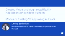 3 | Creating VR apps using ALPS-VR