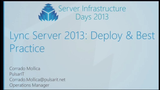 CP04 - Lync Server 2013 Configure and Deploy