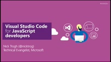 Visual Studio Code for JavaScript developers