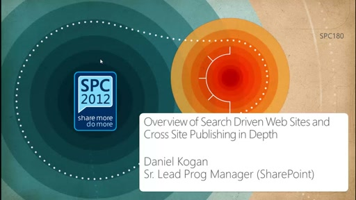 Overview of Search Driven Web Sites and Cross Site Publishing in Depth