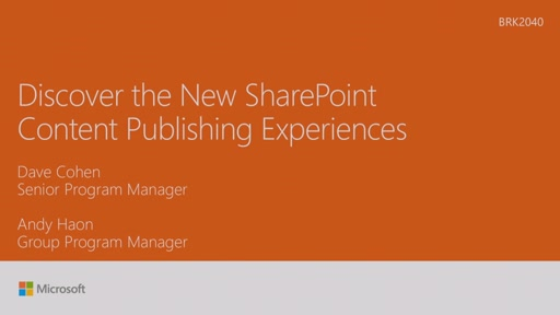 Discover the new SharePoint content publishing experiences