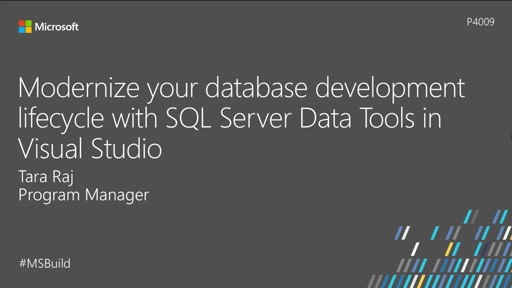Modernize your database development lifecycle with SQL Server Data Tools in Visual Studio