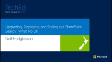 Upgrading, Deploying and Scaling out SharePoint Search : What No UI!