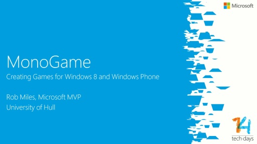 Creating games for Windows 8 and Windows Phone 8 with monogame