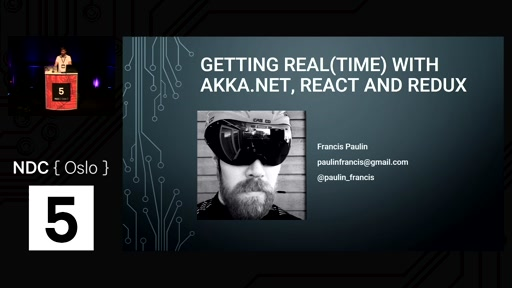 Talk: Getting real(time) with Akka.NET, React and Redux