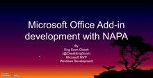 Office Add-Ins Development with NAPA