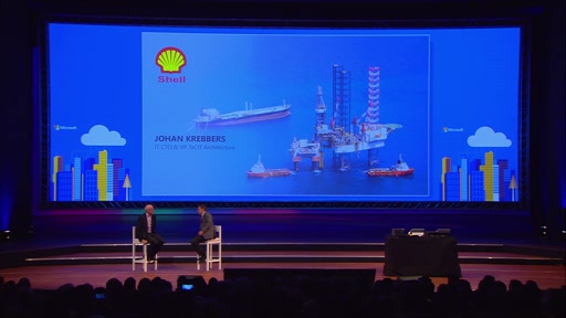 Johan Krebbers from Shell talking with Scott Woodgate