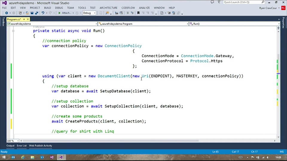 Azure DocumentDB 102 with Ryan CrawCour