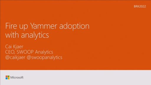 Fire up Yammer adoption with analytics
