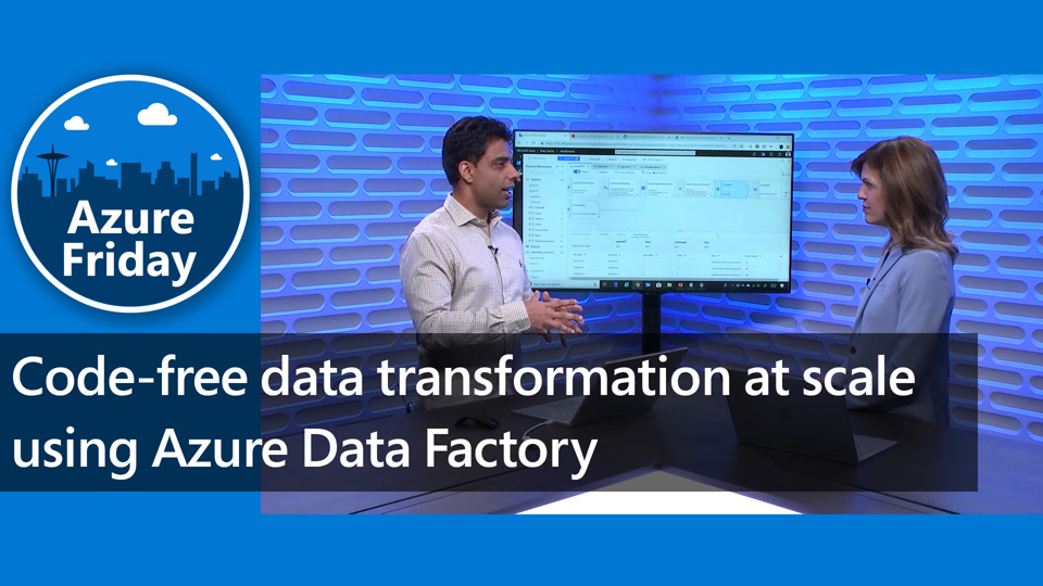 Code-free data transformation at scale using Azure Data Factory