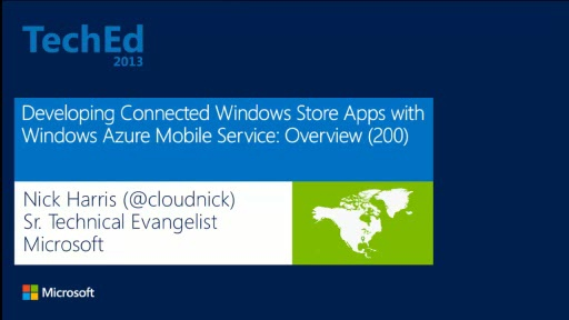 Developing Connected Windows Store Apps with Windows Azure Mobile Service: Overview