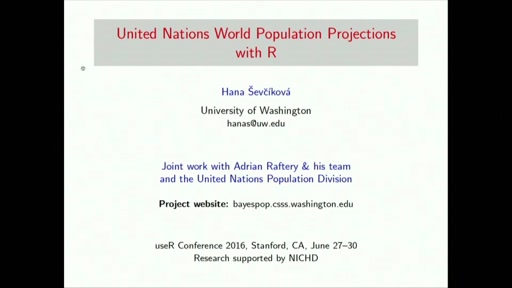 United Nations World Population Projections with R