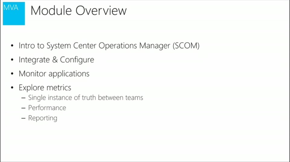 (Module 3) System Center 2012 Operations Manager