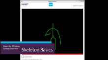 Kinect For Windows Skeleton Basics Video