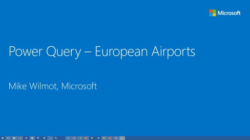 Power BI:PowerQuery for European Airports