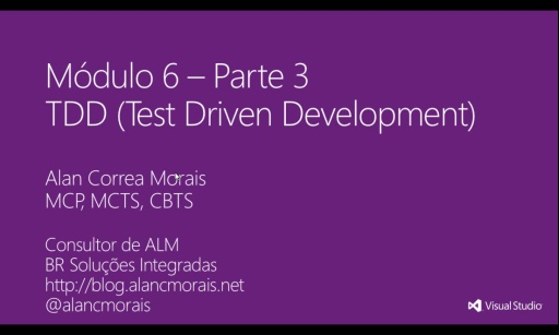 MVA Visual Studio para Teste de Software - TDD