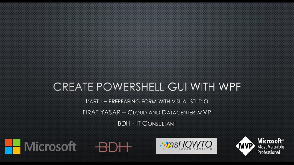 Create Powershell GUI with WPF - Part 1 (tr-TR)