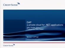 TechDays 11 Bern - .NET Application Platform (DAP): a private cloud for .NET applications
