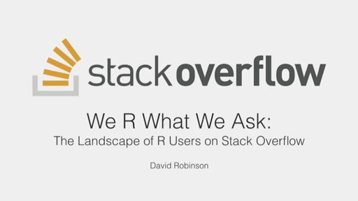 We R What We Ask: The Landscape of R Users on Stack Overflow