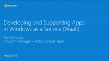 Developing and Supporting Apps for Windows as a Service