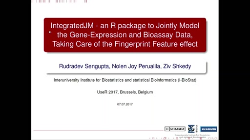 IntegratedJM - an R package to Jointly Model the Gene-Expression and Bioassay Data, Taking Care of the Fingerprint Feature effect