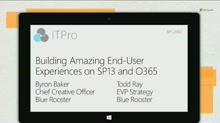Blue Rooster: Building Amazing End-User Experiences with SharePoint 2013 and Office 365