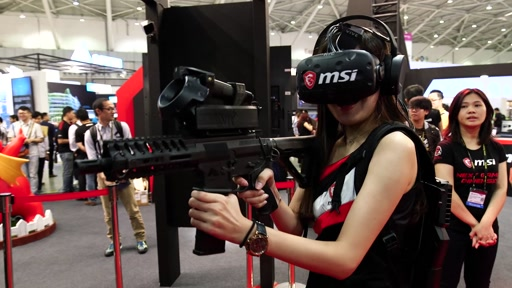 Insane Gaming Mods, Systems and VR Devices Tour at MSI Show Booth