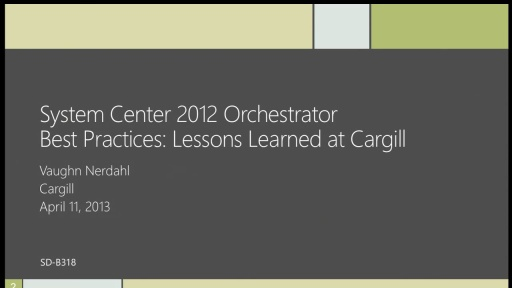 Orchestrator Best Practices: Lessons Learned at Cargill